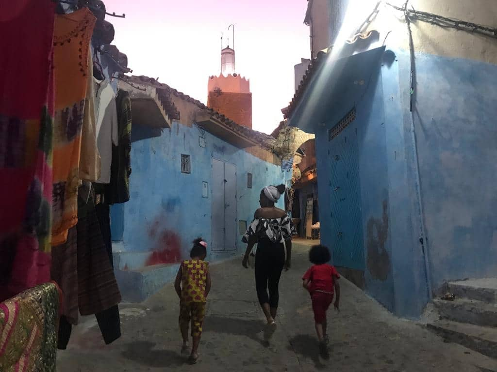 Chefchaouen; Morocco's Blue Pearl during twilight
