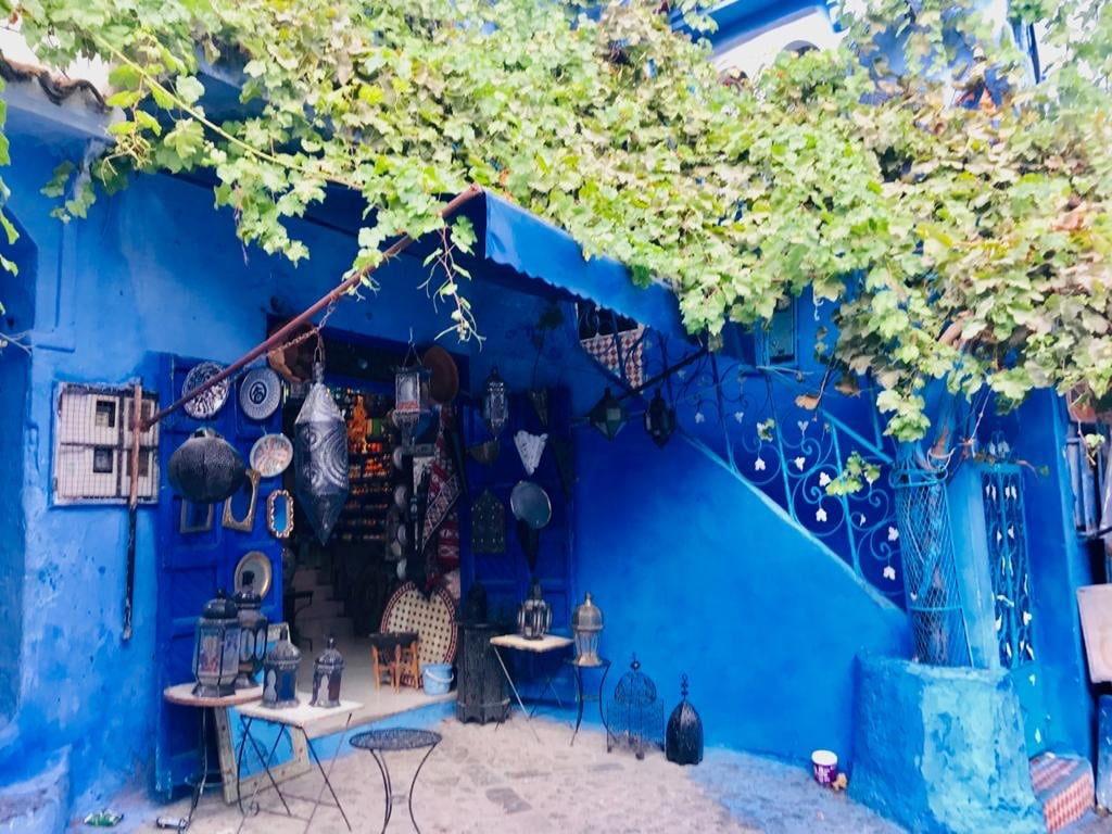 We found this charming Local Art and Crafts Shopwhile we were exploring chefchaouen; Morocco's Blue Pearl